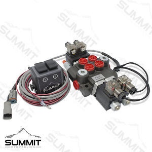 Hydraulic Monoblock Directional Solenoid Control Valve 2 Spool 13 Gpm W Switch