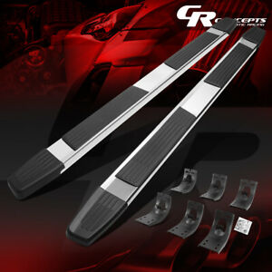 Pair 6 Flat Step Bar Running Boards For 2009 2020 Dodge Ram Truck Extended Cab