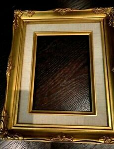Vintage Wooden Picture Photo Tapestry Frame Gold Ornate 9 X 11 5 X 7