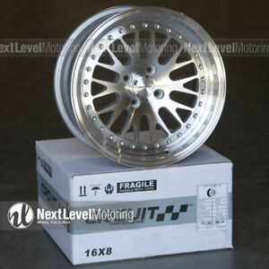 Circuit Cp21 16x8 4 100 25 Silver Machined Wheels Fits Acura Integra Dc2 Gsr Ls