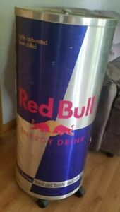 Red Bull Large Electric Can bottle Cooler fridge Rolls 42 X 18 local Pick Up