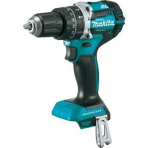 18volt Lithium Ion Brushless Cordless Hammer Driver Drill Soft Grip Dual Led