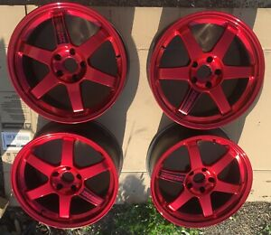 Genuine Jdm Rays Volk Racing Te37 18 Wheels Rims Work Advan Oz Weds