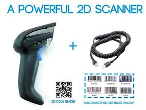Datalogic Gryphon 1d 2d Barcode Reader And Scanner Gd4400 With Usb Cord