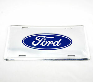 Ford Anodized Logo Licensed Aluminum Metal License Plate Sign Tag Mustang F 150