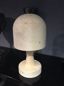 Millinery Wooden Hat Block Round On Loose Stand Shop Display Made To Order