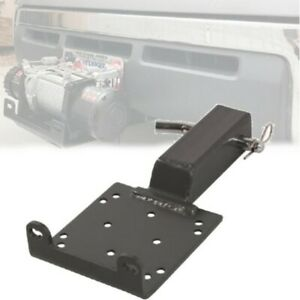 Universal Hitch Winch Mounting Heavy Duty Steel Atv Utv Mount Plate 2 Receiver