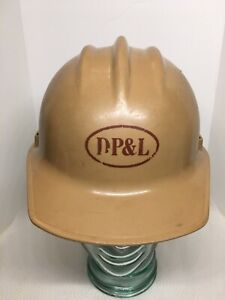 Vintage Bullard Hard Boiled Tan Hard Hat Dp l Dayton Power Light