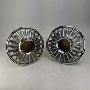 Ford Fairlane Mustang Hubcaps Vintage 1967 Standard 14 Wheel Cover Set Of 2
