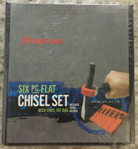 Snap On Ppc706holx 6 Piece Flat Chisel Set W Kit Bag Punch Chisel Holder