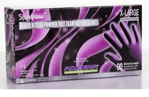 2 Pack Adenna Shadow x large Black Nitrile Pf Exam Gloves 2 Boxes