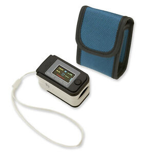 Fingertip Pulse Oximeter Blood Oxygen Saturation Heart Rate Monitor W Case