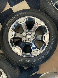 Dodge Ram 1500 Factory Chrome Clad 20 Wheels And Tires New Take Off