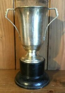 Not Engraved Vintage Silver Plate Trophy Loving Cup Trophies Trophy