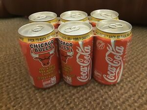 1992 Coca Cola Classic can from the USA, Chicago Bulls (6 pk) EMPTY