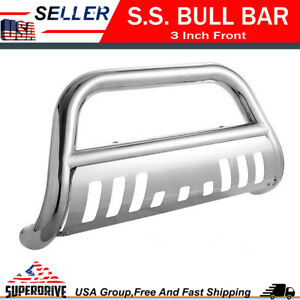 For 05 15 Toyota Tacoma Front Bumper Grille Guards Skid Plate Chrome Bull Bar