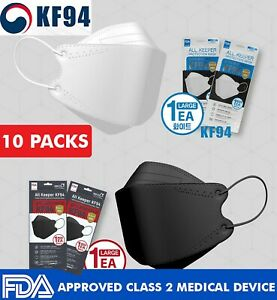 10 Pcs All Keeper Kf94 Mask Made In Korea Surgical Medical Face Respiration
