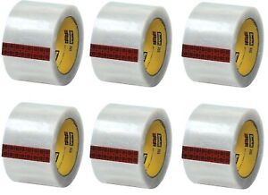 Scotch 355 Hot Melt Packing Tape 3 w X 55 Yards Clear Pack Of 6 t9053556pk