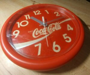 Tested & Working VINTAGE COCA COLA WALL CLOCK