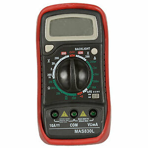 Mastech Mas830l Digital Multimeter Multi Meter With Probes