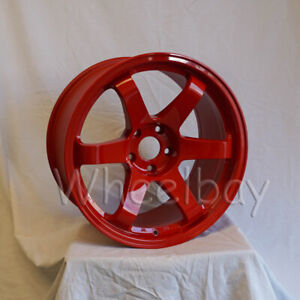 4 Pcs Rota Wheel Grid 18x9 5 5x114 3 20 73 Red