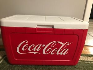 COLEMAN COCA COLA COOLER COLEMAN RARE GENTLY USED ADVERTISING CAMPING PICNIC