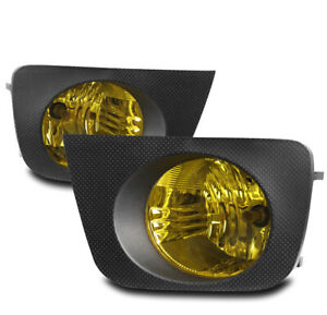 For 2006 2009 Toyota 4runner Bumper Yellow Lens Driving Fog Lights Lamps W bezel