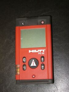 Hilti Pd 30 Digital Laser Range Meter Pd30 Measuring Tool With Pouch