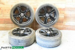 17 Staggered Black Mercedes Benz C Class C300 W204 Wheels Rims Tires Oem