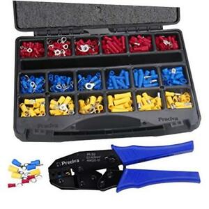Wire Terminals Crimping Tool Kit Preciva Awg22 10 Insulated Ratcheting Terminal