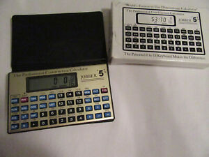 Professional Construction Calculator Jobber 5 Tested Working With Box