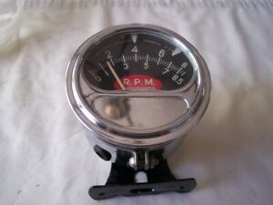 Vintage Sun Tachometer Rc85 Red Football Rat Rod Hot Street Vintage Chevy Ford
