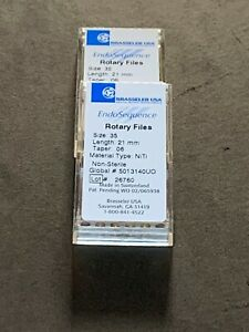 1 Pack Of Brasseler Endosequence Rotary Files 35 Taper 06 25mm