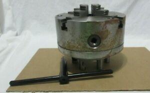 South Bend Sb1235 4 Jaw Independent Lathe Chuck Extra Jaws 2000 Rpm With Tool