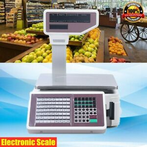Digital Weight Scale Price Computing Retail Food Meat Scales Count Scale