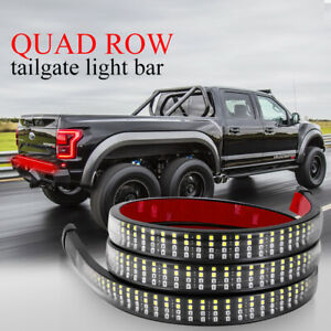 60 Tailgate Led Strip Light Bar Quad Row Rear Running Brake Turn Signal Truck