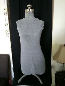 Vintage Adjustable Dress Form Mannequin Female Torso 1950 1960
