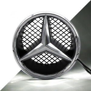 Illuminated Car Led Front Grille Star Emblem Lights For Mercedes Benz Snap Type