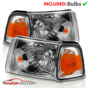 For 2001 2011 Ford Ranger Chrome Oe Replacement Headlight Corner Assembly Pair