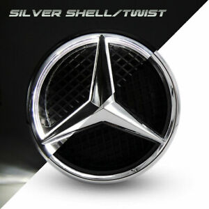 Illuminated Car Motors Led Grille Logo Emblem Light For Mercedes Benz Twist Type