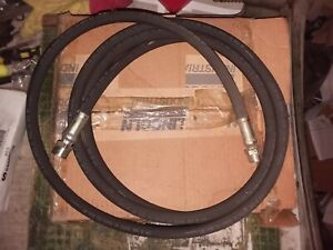 High Pressure Grease Hose 10 Ft 1 4 id 1 2 27 Thread 5 000 Psi