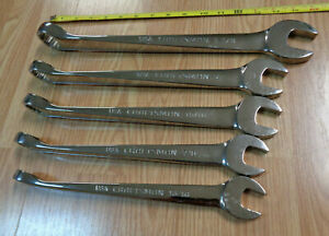 Usa Made Craftsman Cross force Large Sae Inch Combination Wrench Set Polished