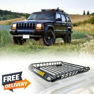 Heavy Duty Roof Rack Cargo Carrier Universal Storage Holder Luggage Basket Mount