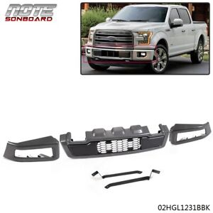 For 2018 2019 Ford F150 Raptor Style Conversion Painted Grey Iron Front Bumper