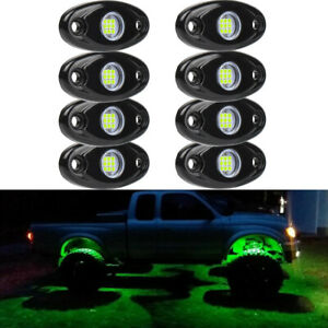 Led Rock Lights Underbody Glow Under Car Green Neon Accent For Chevy Silverado