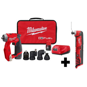 Milwaukee Drill Driver Kit W Multi Tool Cordless 4 In 1 Installation 12v 3 8 In
