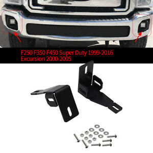 1x Front Bumper Fog Lamp Mounting Brackets 3 Inch Led Light Square For Ford R2m2