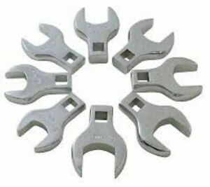 Sunex 8pc Jumbo Metric Crowfoot Wrenches Set 1 2 Drive Tools Crows Foot 9730