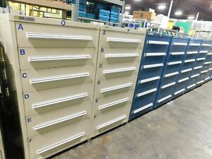 7 Drawer Stanley Vidmar Industrial Tool Storage Cabinet 59 Tall X 30 Wide