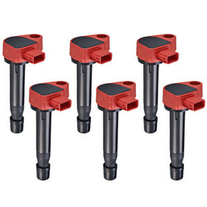 Performance Ignition Coil 6pcs For Honda Accord Odyssey Acura Cl Rl Tl V6 Red
